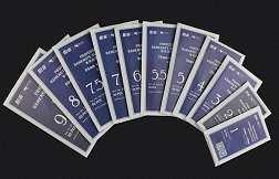 Пакетики № 1 - размер 55 х 110 мм (пачка 50 штук)