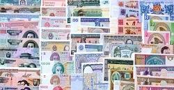 Набор из 40 разных банкнот