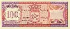 Нидерландские Антилы: 100 гульденов 1981 г.