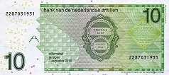 Нидерландские Антилы: 10 гульденов 1998-2016 г.