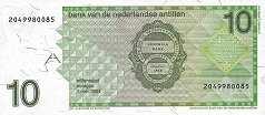 Нидерландские Антилы: 10 гульденов 1986-94 г.