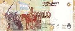 Аргентина: 10 песо (2016 г.)