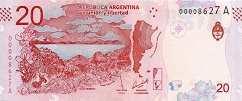 Аргентина: 20 песо (2017 г.)