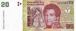 Аргентина: 20 песо (2003-13 г.)
