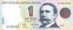 Аргентина: 1 песо (1991 г.) (подпись 1, серия A,B)