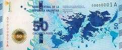Аргентина: 50 песо (юбилейная) 2015 г.