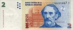 Аргентина: 2 песо (2002 г.)