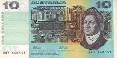 Австралия: 10 долларов (1974-91 г.)
