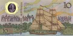 Австралия: 10 долларов 1988 г. (юбилейная)