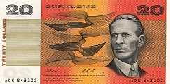 Австралия: 20 долларов (1974-94 г.)