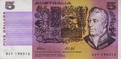 Австралия: 5 долларов (1974-91 г.)