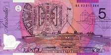 Австралия: 5 долларов (2002-15 г.)