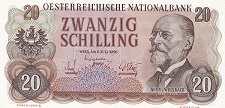 Австрия: 20 шиллингов 1956 г.