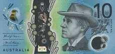 Австралия: 10 долларов (2017 г.)