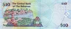 Багамы: 10 долларов 2009 г.