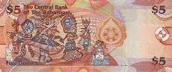 Багамы: 5 долларов 2007-13 г.