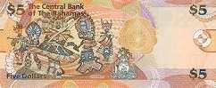 Багамы: 5 долларов 2013 г.