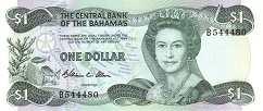 Багамы: 1 доллар 1974 (1984) г. (подпись 1)