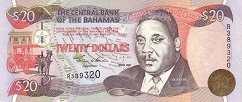 Багамы: 20 долларов 1993-2000 г.