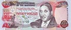 Багамы: 20 долларов 1997 г.