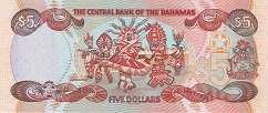 Багамы: 5 долларов 2001 г.