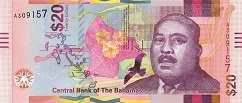 Багамы: 20 долларов 2018 г.