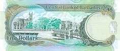 Барбадос: 5 долларов 2007-12 г.