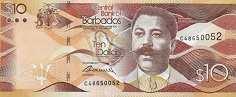 Барбадос: 10 долларов 2013-17 г.