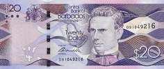 Барбадос: 20 долларов 2013-17 г.
