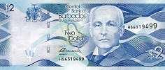 Барбадос: 2 доллара 2013-16 г.