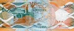 Барбадос: 50 долларов 2013-17 г.