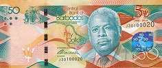 Барбадос: 50 долларов 2016 г. (юбилейная)