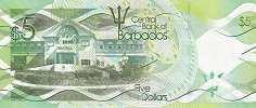 Барбадос: 5 долларов 2013-17 г.