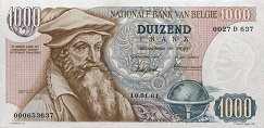 Бельгия: 1000 франков 1961-76 г.