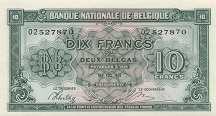 Бельгия: 10 франков 1943 г.