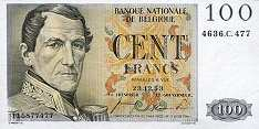Бельгия: 100 франков 1952-59 г.