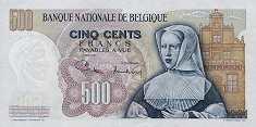 Бельгия: 500 франков 1961-75 г.