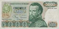 Бельгия: 5000 франков 1971-77 г.