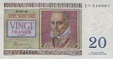 Бельгия: 20 франков 1950 г.