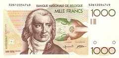 Бельгия: 1000 франков (1982 г.)
