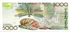 Бельгия: 5000 франков (1982 г.)
