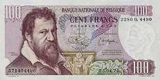 Бельгия: 100 франков 1962-75 г.