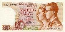 Бельгия: 50 франков 1966 г.