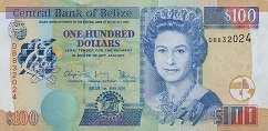 Белиз: 100 долларов 2003-16 г.