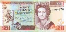 Белиз: 20 долларов 2003-14 г.