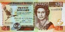 Белиз: 20 долларов (юбилейная) 2012 г.