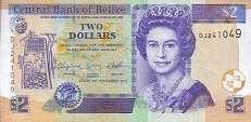 Белиз: 2 доллара 2003-14 г.