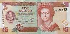 Белиз: 5 долларов 2003-15 г.