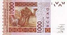Буркина-Фасо: 1000 франков CFA-BCEAO 2003-17 г.