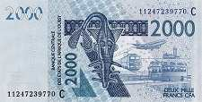 Буркина-Фасо: 2000 франков CFA-BCEAO 2003-17 г.
